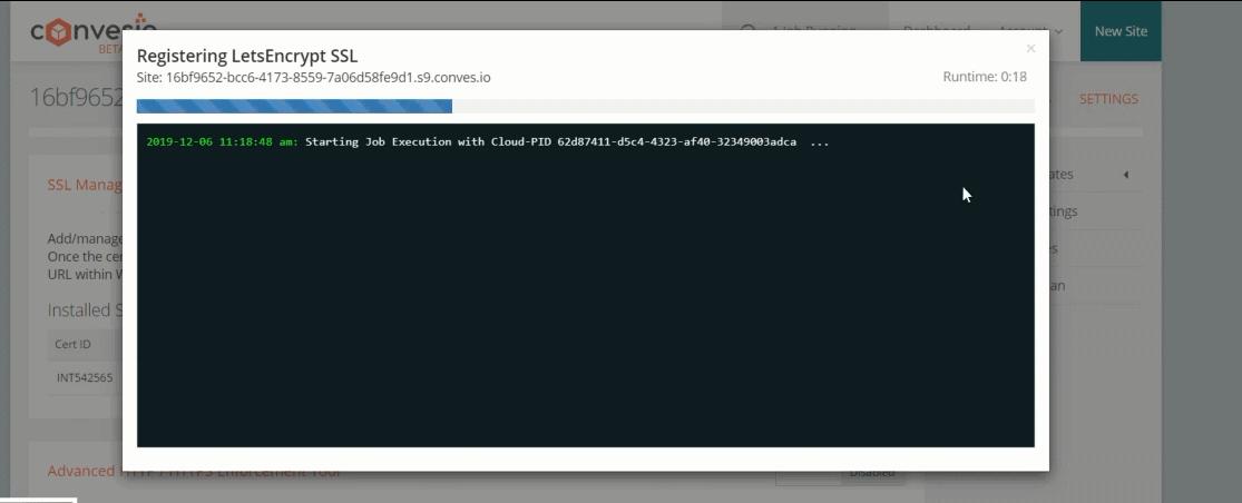 encrypting SSL in convesio hosting