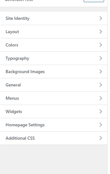 GeneratePress customization